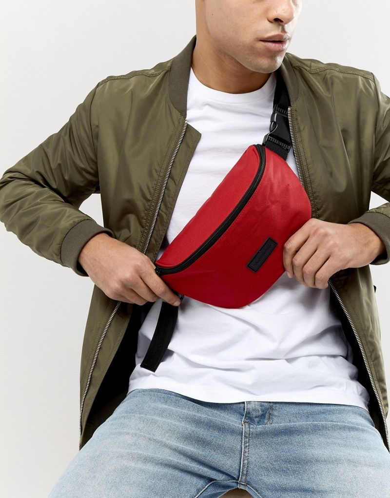 Consigned Bum Bag In Red - Red