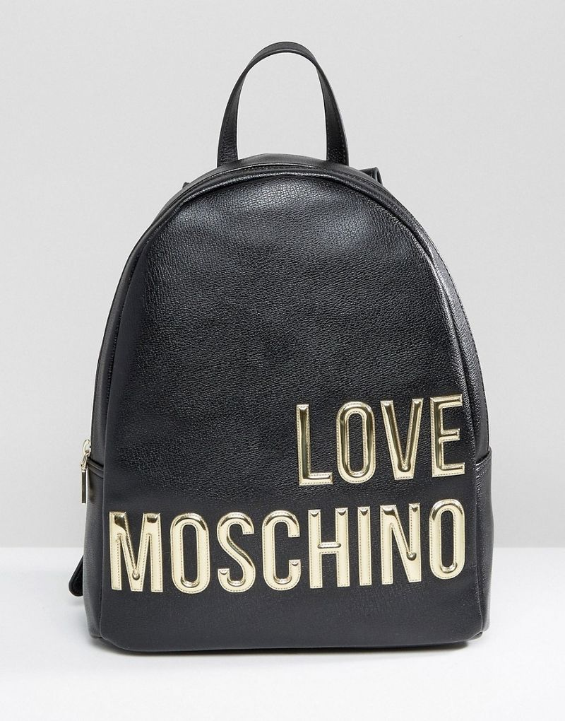 Love Moschino | Love Moschino Backpack With Large Logo - Black
