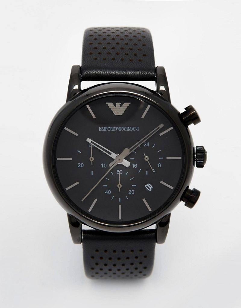 Emporio Armani AR1737 watch in black - Black