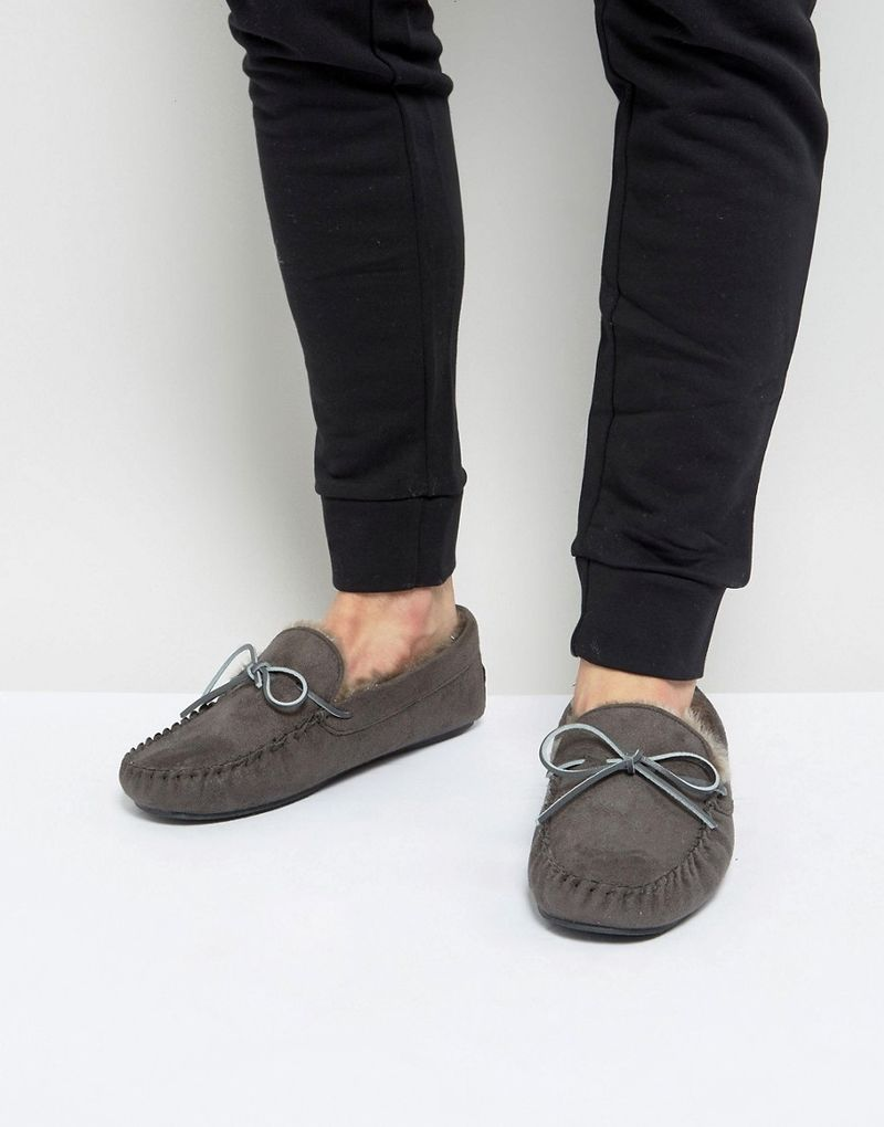 Kg By Kurt Geiger Moccasin Slippers - Grey