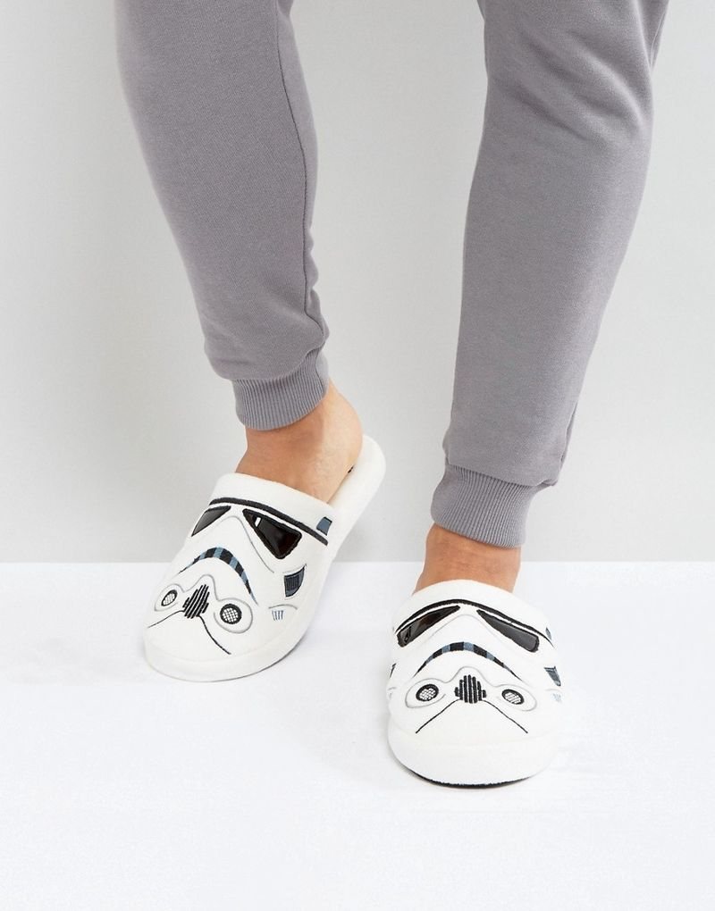 Fizz Star Wars Storm Trooper Slippers - White