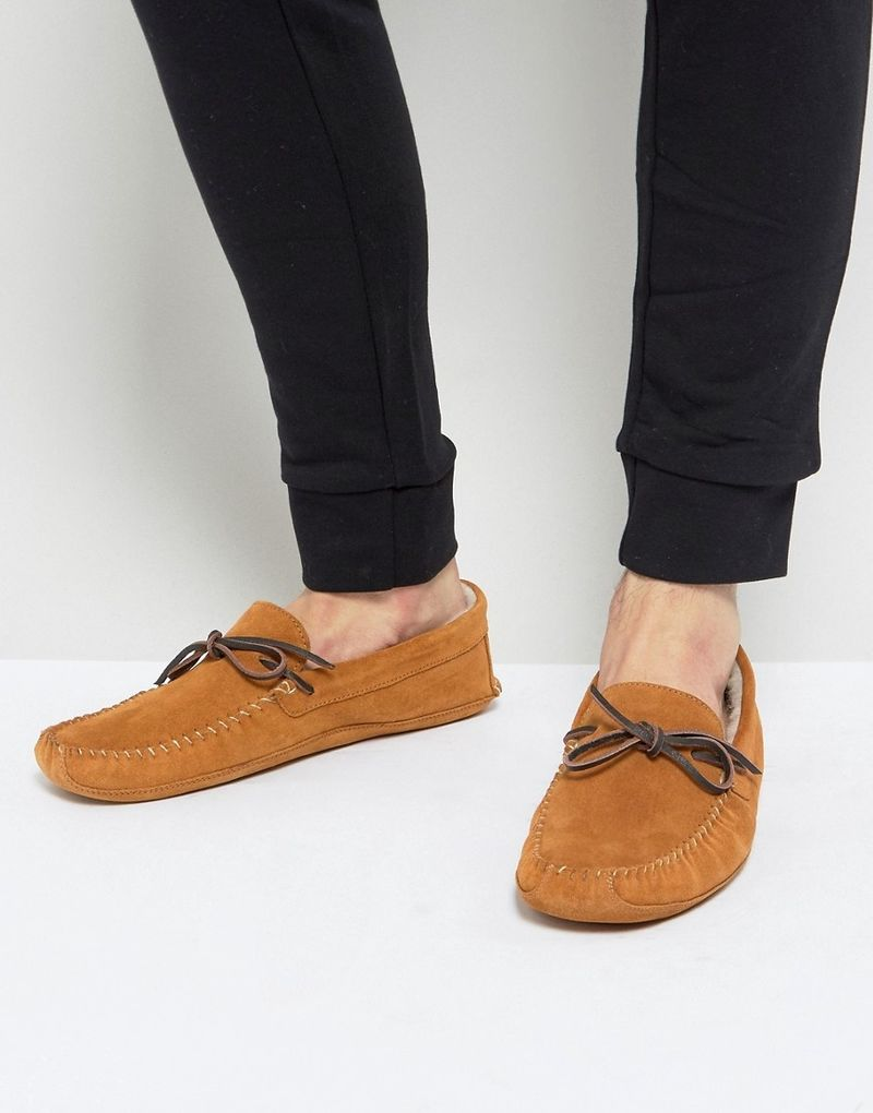 Pier One Suede Slippers In Tan - Tan