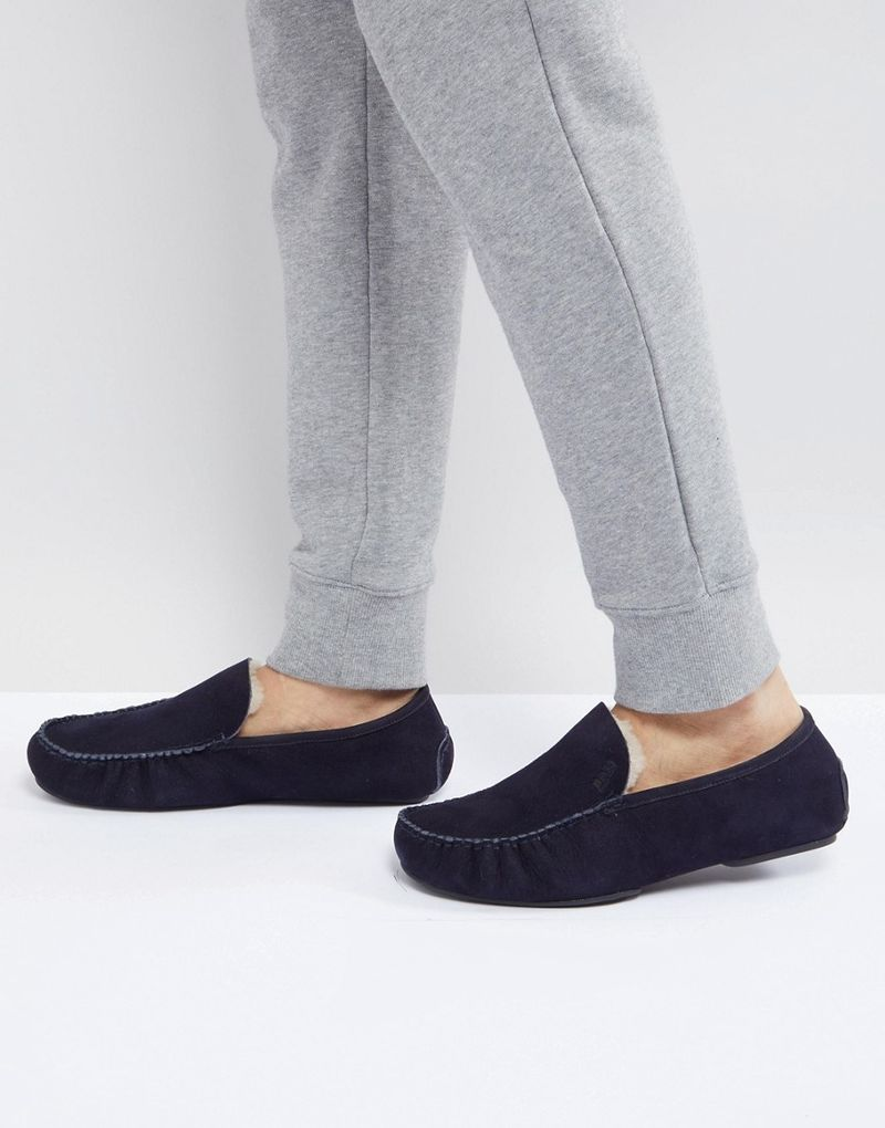BOSS Relax Slippers in Navy - 401
