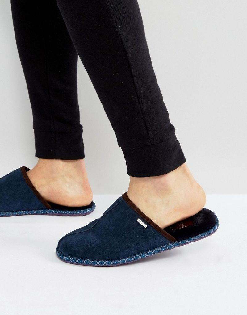 Ted Baker Youngi Slip On Mule Slippers - Navy