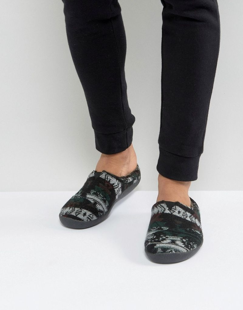 TOMS Berkeley Forest Slippers In Gift Box - Black