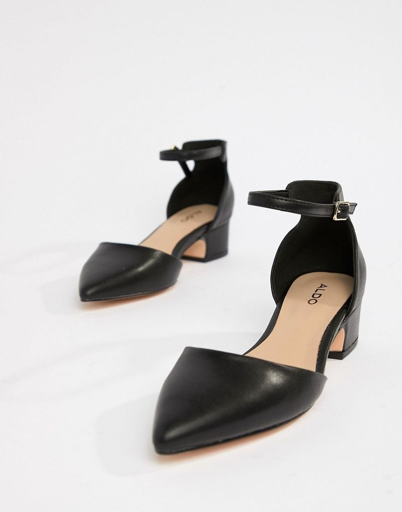 Aldo pointed mid heels - Black synthetic