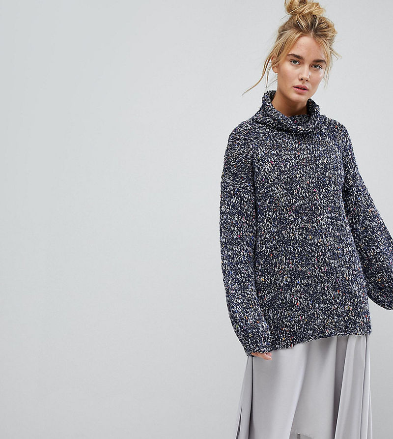 OneOn Hand Knitted Oversized Multi Coloured Jumper - Multi