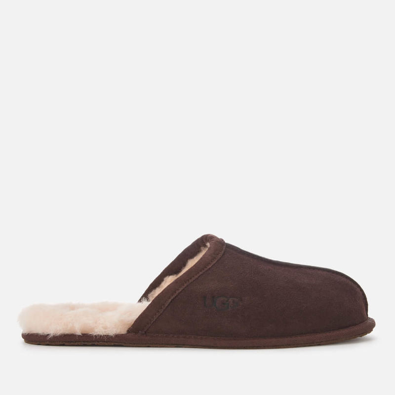 UGG | UGG Men's Scuff Suede Slippers - Espresso - UK 7 - Brown