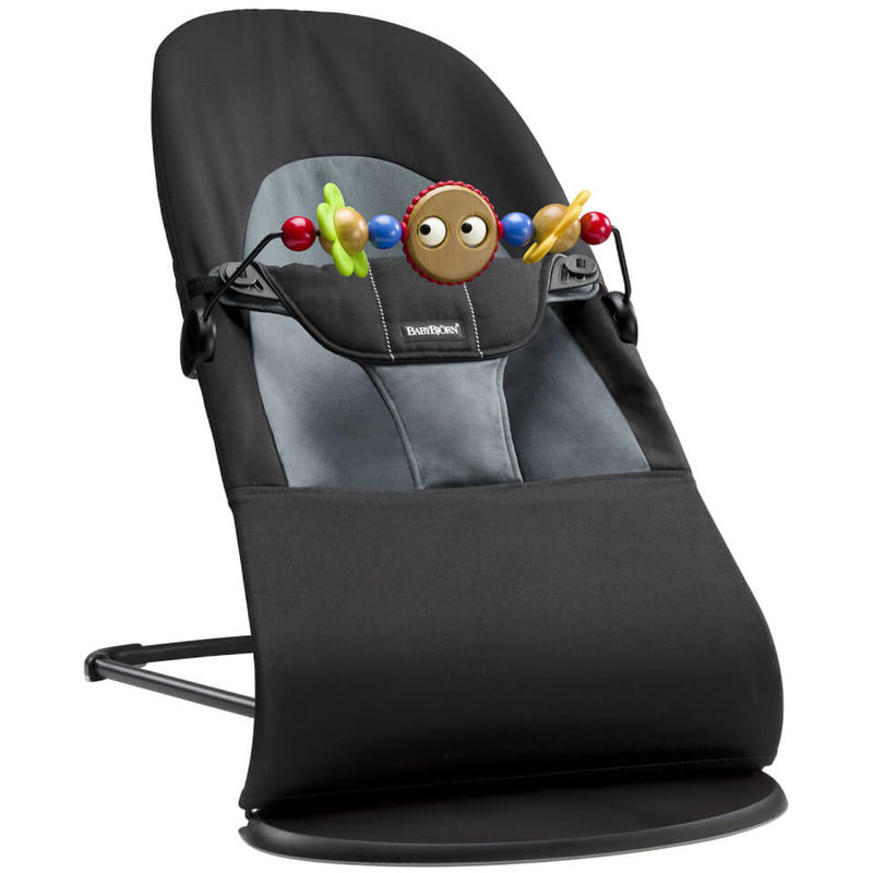 BABYBJÖRN | BABYBJÖRN Bouncer Soft and Soft Friends Bouncer Toy - Black and Grey