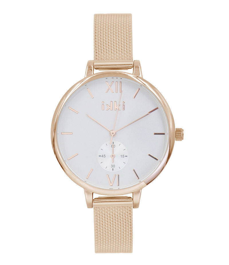IKKI-Watches - Watch Estelle Rose Gold - White