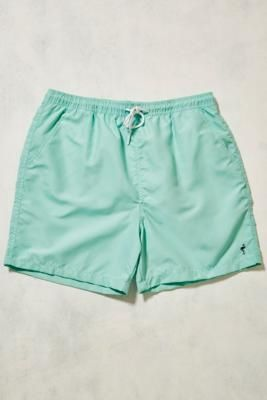Urban Outfitters | UO Swim Mint Palm Swim Shorts - Mens M