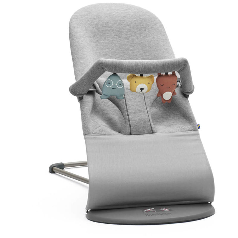 BABYBJÖRN | BABYBJÖRN Bouncer Bliss and Soft Friends Bouncer Toy - Light Grey