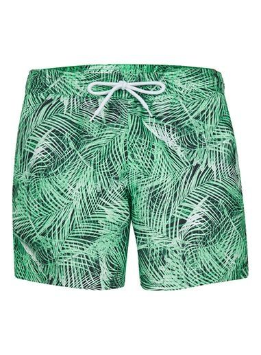 Topman | Green Palm Print Swim Shorts