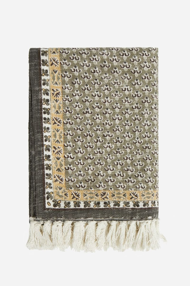 Poppy Field Natural Throw - natural