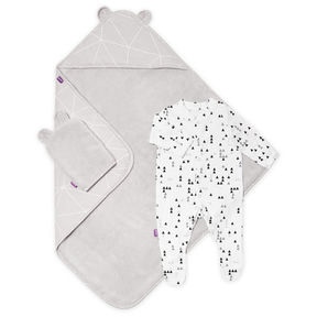 Snüz | Snüz Baby Bath and Bed Gift Set - Geo Mono