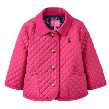 Joules Baby Mabel Quilted Jacket Bright Pink