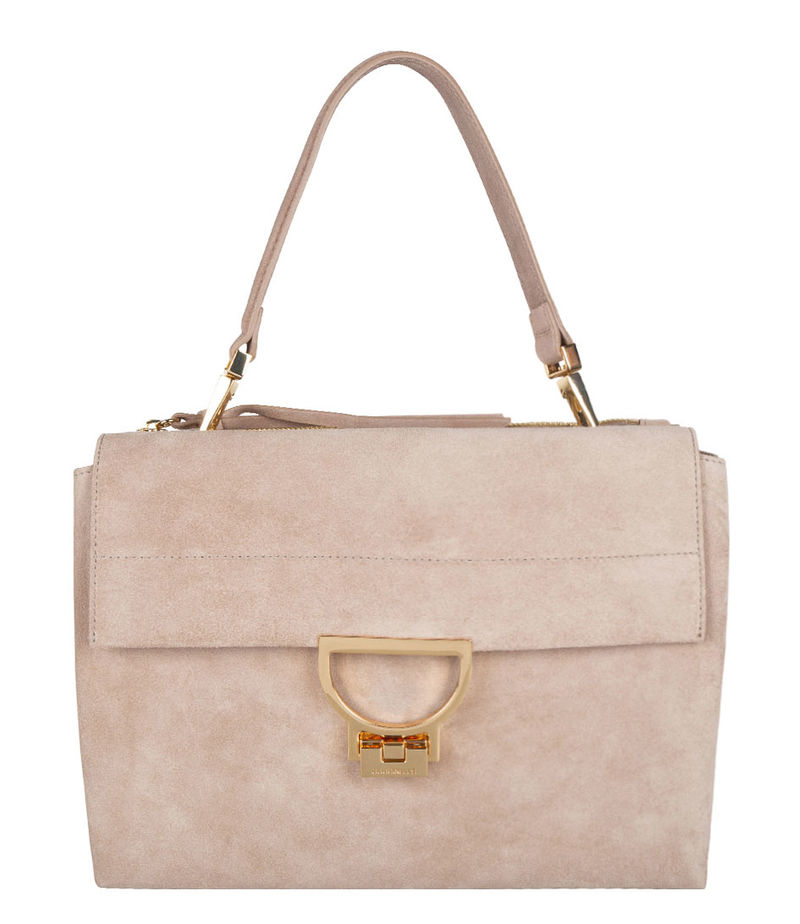 Coccinelle-Hand bags - Arlettis Suede - Taupe