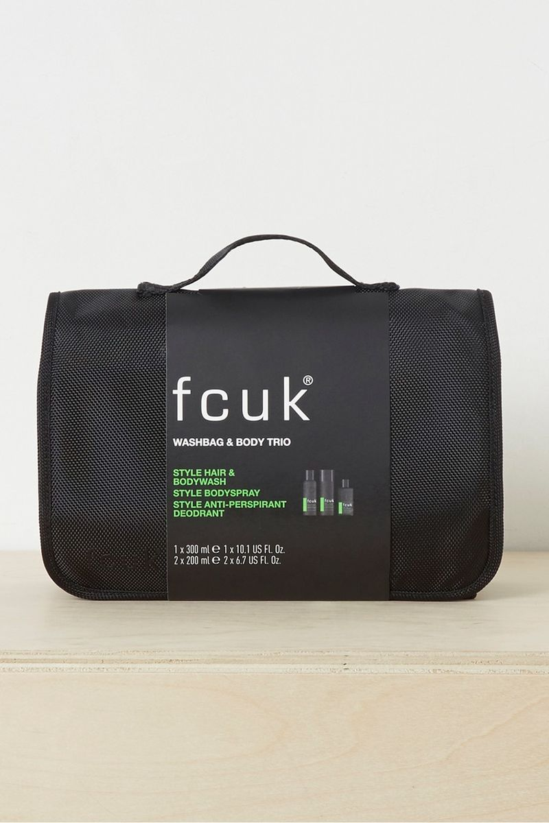 Washbag And FCUK Style Gift Set - green