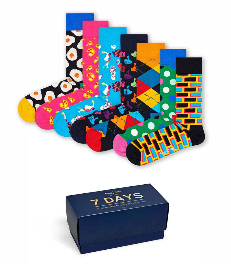 Happy Socks-Socks - 7-Day Gift Box - Blue