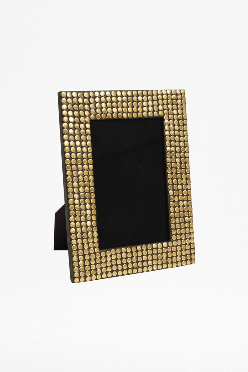 Gold Studded Photo Frame - gold