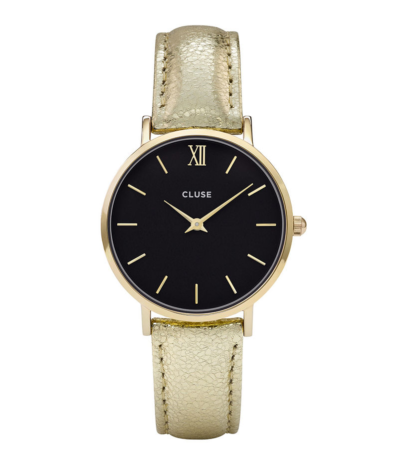 CLUSE-Watches - Minuit Gold Plated Black - Gold-coloured