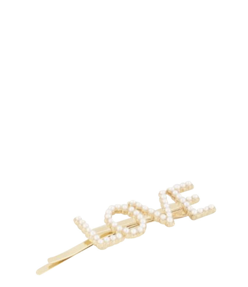 My Jewellery-Hair accessories - Haarclip LOVE - Gold-coloured