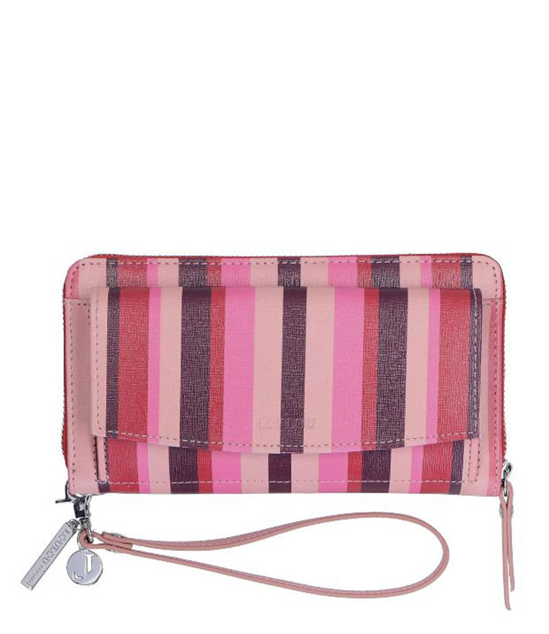 LouLou Essentiels-Zip wallets - Portemonnee Bubblegum - Pink