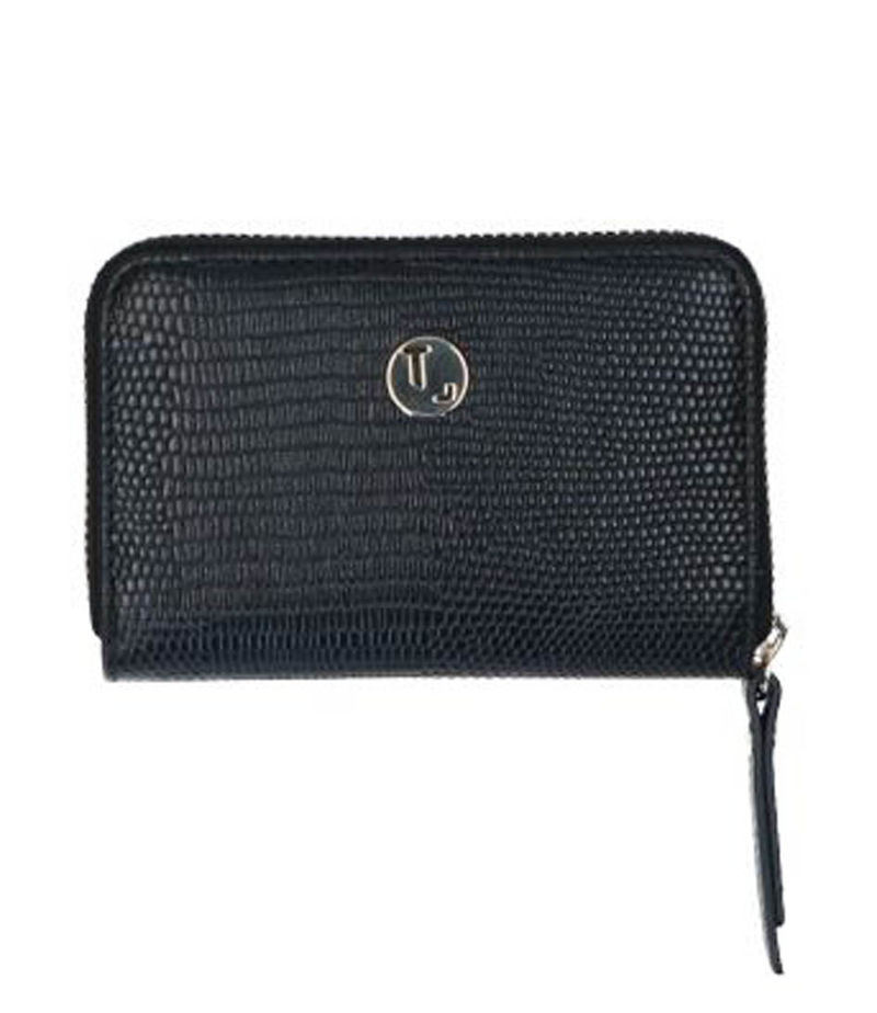 LouLou Essentiels-Zip wallets - Portemonnee Lovely Lizard - Black