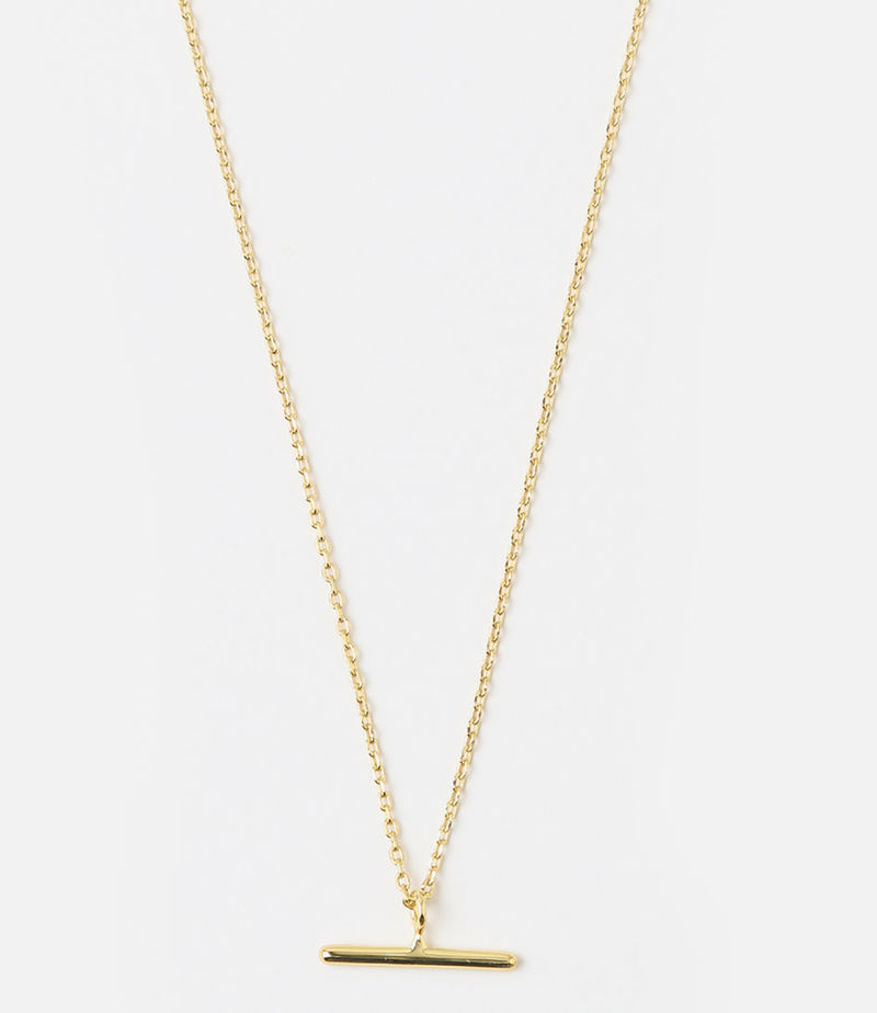 Orelia-Necklaces - T-Bar Ditsy Necklace - Gold-coloured