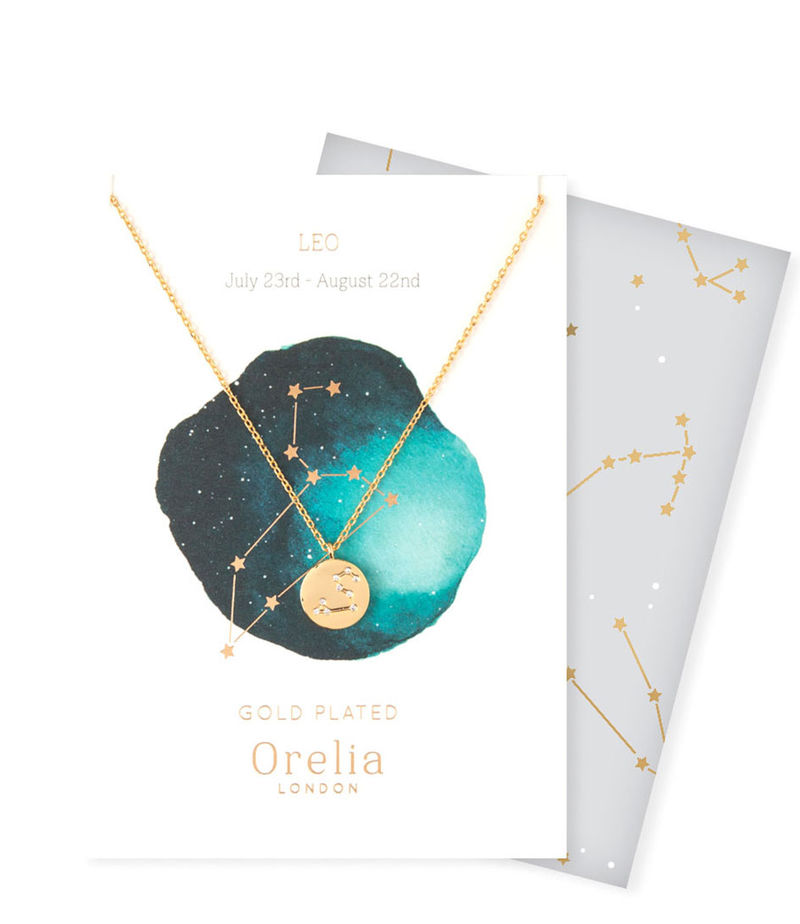 Orelia-Necklaces - Ketting Sterrenbeeld Leeuw - Gold-coloured