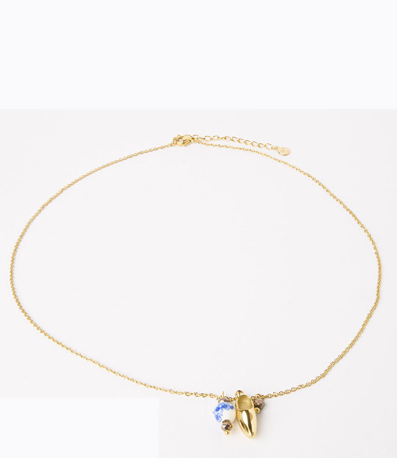 My Jewellery-Necklaces - Ketting klomp - Gold-coloured