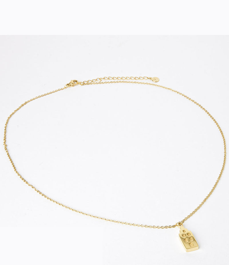 My Jewellery-Necklaces - Ketting Amsterdam huisjes - Gold-coloured