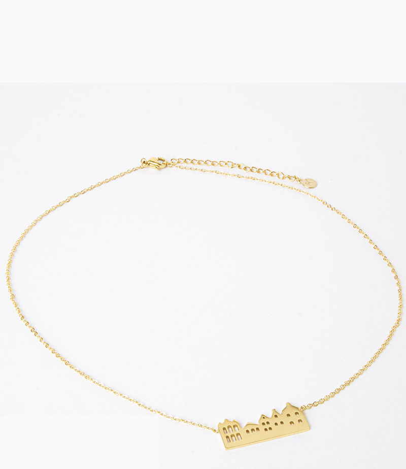 My Jewellery-Necklaces - Ketting huisjes - Gold-coloured