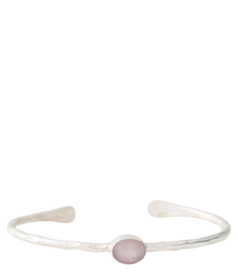 A Beautiful Story-Bracelets - Moonlight Rose Quartz Silver Bracelet - Pink