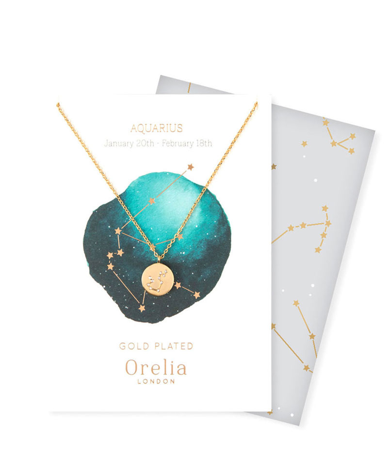 Orelia-Necklaces - Ketting Sterrenbeeld Waterman - Gold-coloured