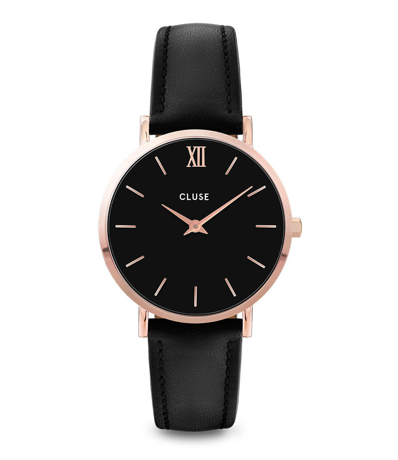 CLUSE-Watches - Minuit Leather Rose Gold Plated - Rose (gold) coloured
