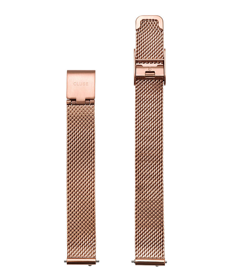 CLUSE-Watchstraps - La Vedette Mesh Strap 12 mm - Rose (gold) coloured