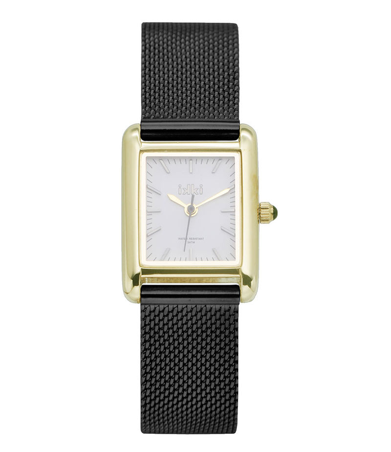 IKKI-Watches - Watch Grace Black - Gold-coloured