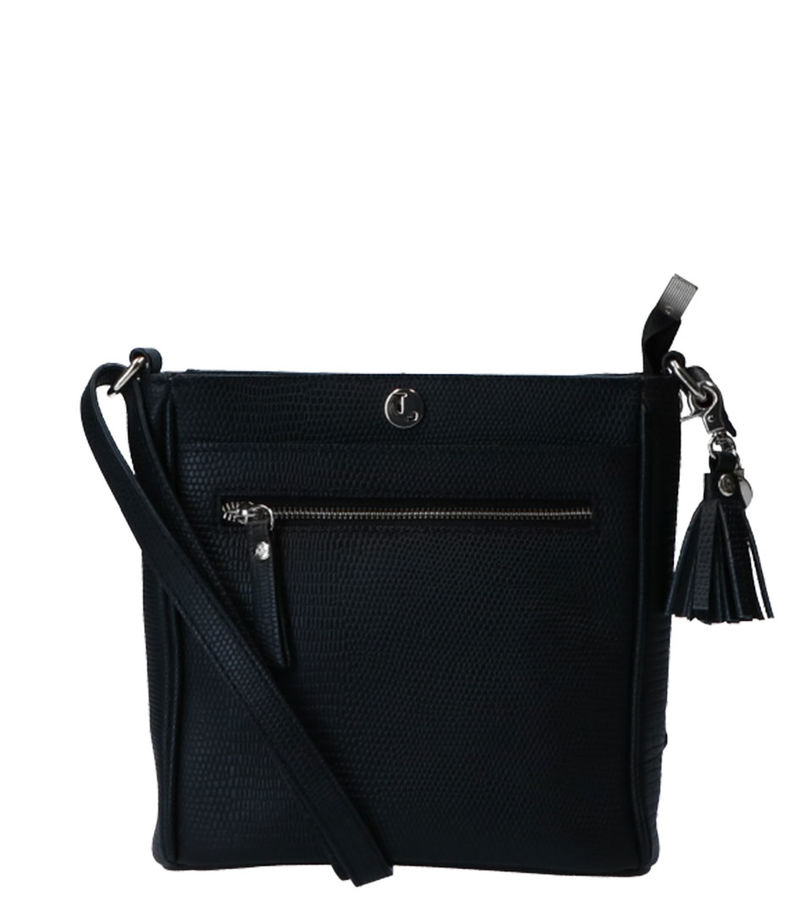 LouLou Essentiels-Clutches - Pouch Lovely Lizard Silver Colored - Black