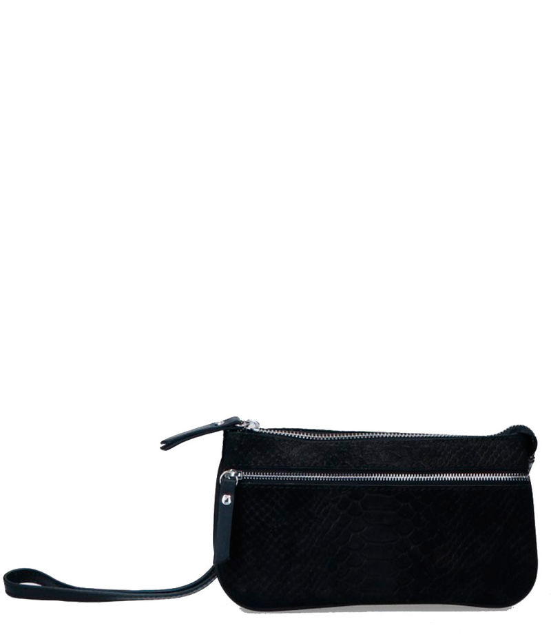 LouLou Essentiels-Clutches - Pouch Sugar Snake - Black