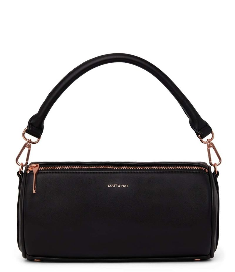 Matt & Nat-Handbags - Seoul Loom Satchel - Black