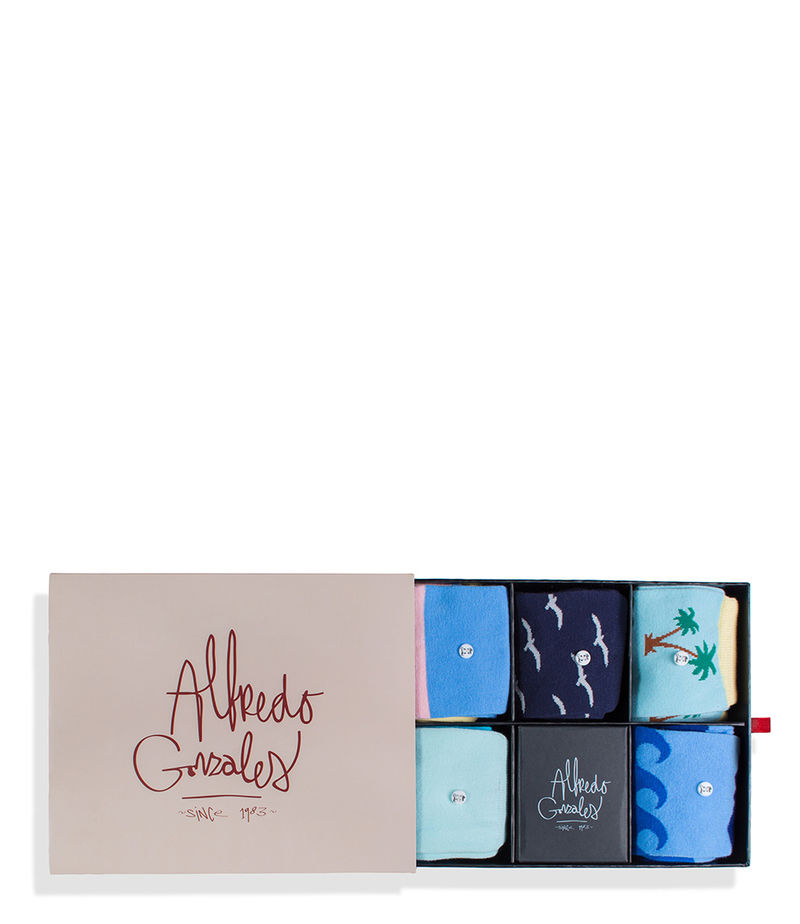 Alfredo Gonzales-Socks - Socks Box The Beach - Blue