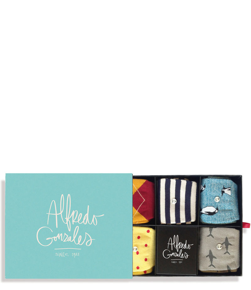 Alfredo Gonzales-Socks - The Good Life Socks Box - Green