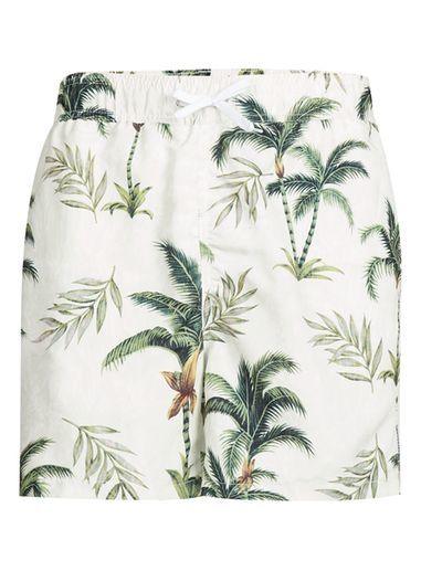 Topman | BELLFIELD Palm Tree Print Swim Shorts*