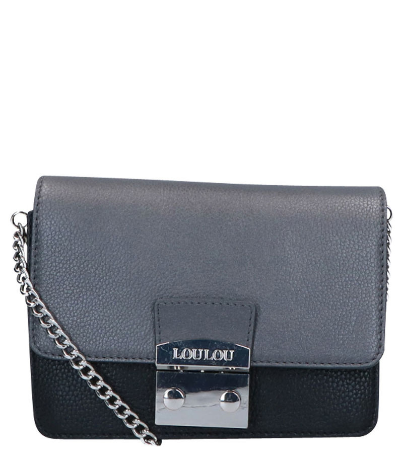 LouLou Essentiels-Clutches - Cover Beau Veau Silver Colored - Grey