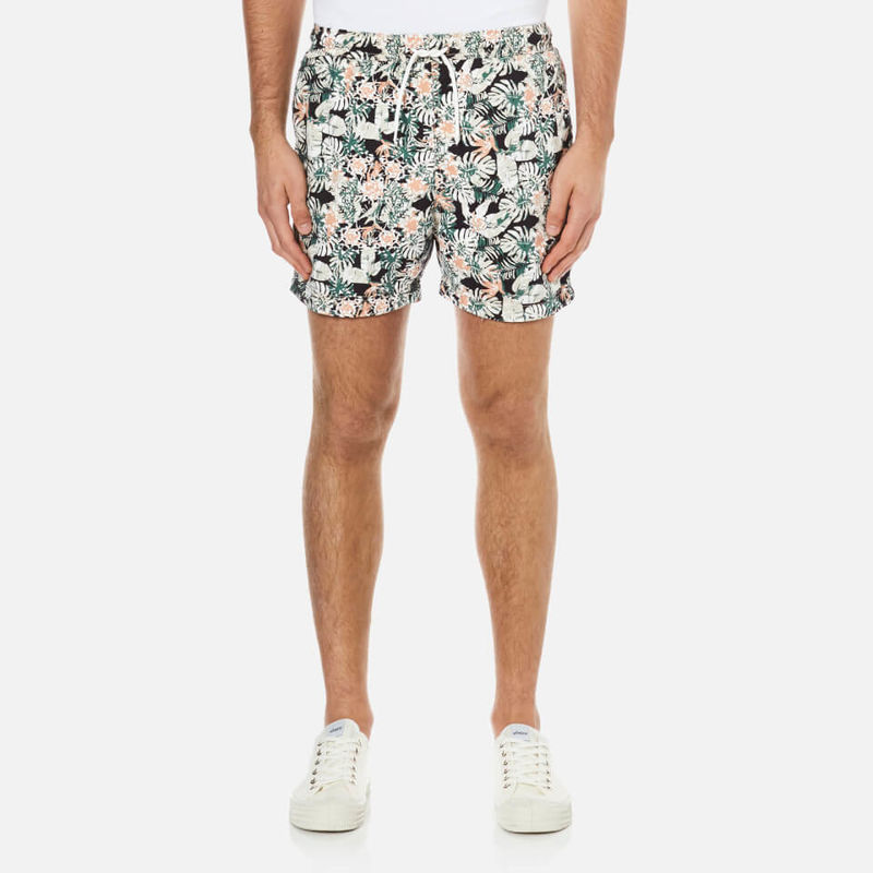 Selected Homme | Selected Homme Men's Sunset Swim Shorts - Mahogony Rose - XXL