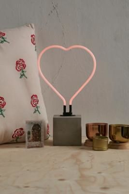 Urban Outfitters | Heart Neon Table Lamp