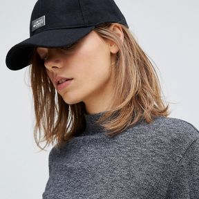 Cheap Monday | Cheap Monday Baseball Cap With Metal Logo Detail - Black