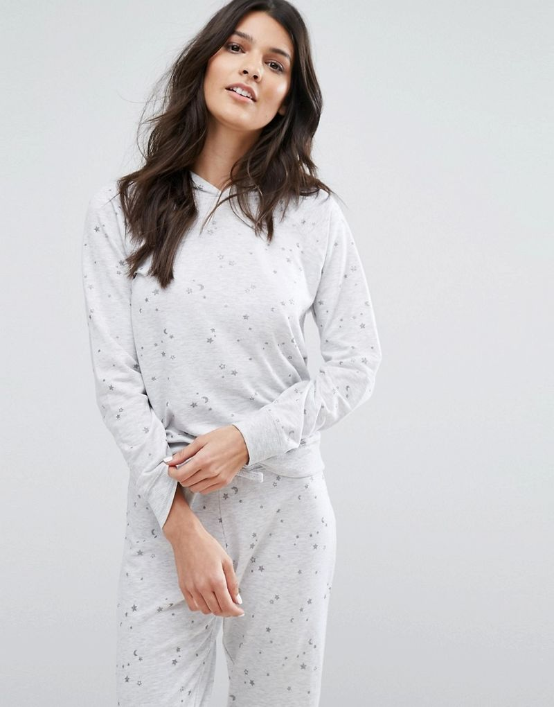 New Look | New Look Star Co-Ord Pyjama Hoodie - Grey
