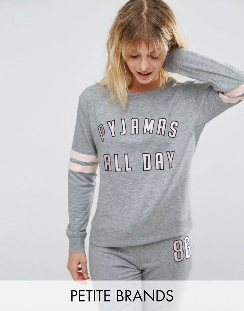 New Look Petite | New Look Petite All Day Pyjama Top - Grey